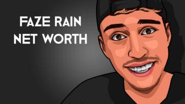 Faze Rain net worth